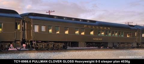 The Coach Yard 966.6 HO Southern Pacific Clover Glow HW 8-5