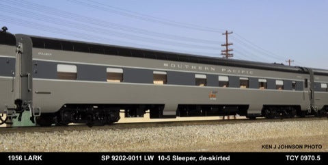The Coach Yard 970.5 HO Southern Pacific LW 10-5, De-Skirted Sleeper 9202-11