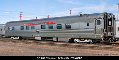 The Coach Yard 987 HO Southern Pacific 252 Research & Test car, ex Support 252