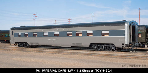 The Coach Yard 1139.1 HO Pullman Imperial Cape LW 4-4-2, TTG 4-4-2 Sleeper