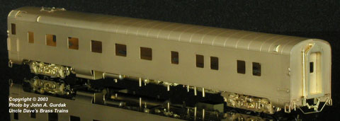 The Coach Yard 1160 HO Southern Pacific LW Sleeper, 10-5 Partial Skirt
