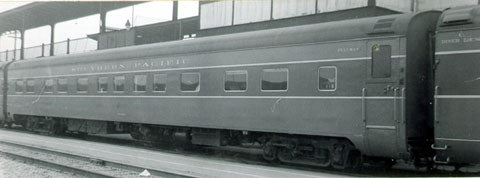 The Coach Yard 1166 HO Southern Pacific LW Sleeper, 4-4-2 plan 4069m 9118-20