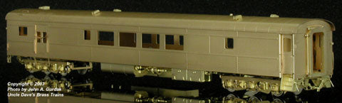 The Coach Yard 1174 HO Southern Pacific LW Baggage Dorm, ex USAX 79-D 3401