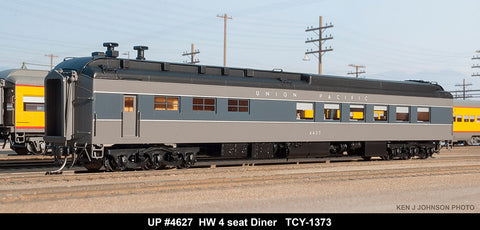 The Coach Yard 1373 HO Union Pacific HW 46 Seat Diner, TTG P-4-5 4629
