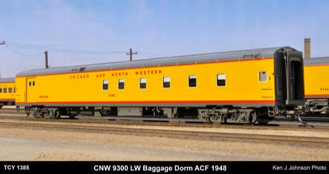 The Coach Yard 1385 HO SP/UP/CNW LW 1954 Re-built Seat COSF - 8th Train Set (11)