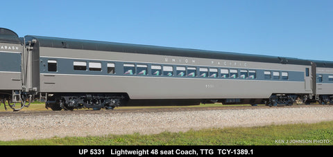 The Coach Yard 1389.1 HO Union Pacific LW Coach and HW 10-1-1