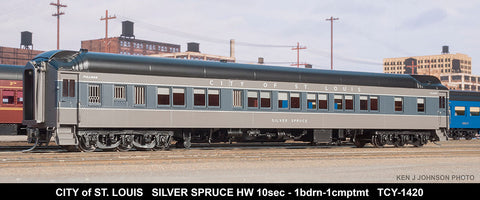 The Coach Yard 1420 HO Pullman Silver Spruce HW 10-1-1