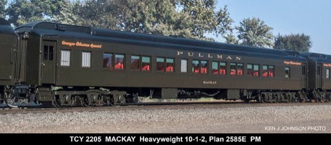 The Coach Yard 2205 HO Pullman + Cazadero Broadwater, HW 10-1-2, plan 25 Green