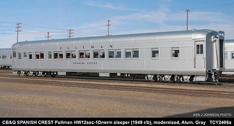 The Coach Yard 2406a HO Chicago Burlington & Quincy Modernized HW 12-1 1954