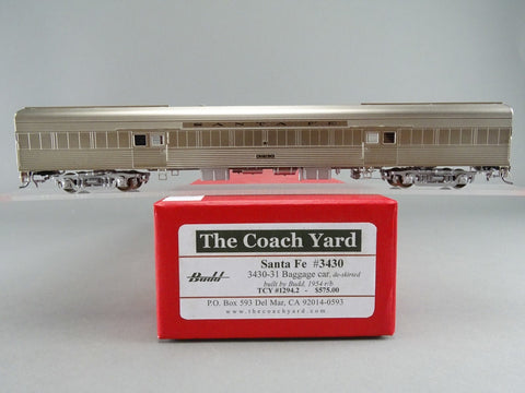 The Coach Yard 1294.2 HO Atchison Topeaka Santa Fe LW Baggage Car