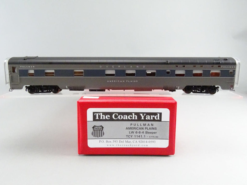 The Coach Yard 1141.1 HO Pullman American Plains LW 6-6-4, Lettered Sleeper