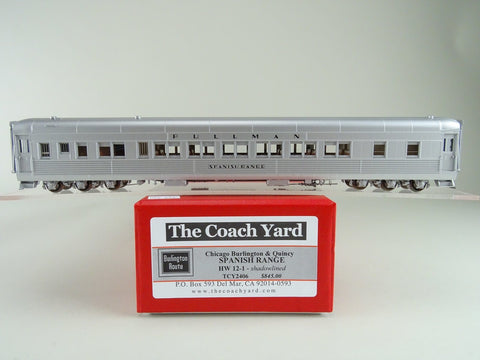The Coach Yard 2406 HO Chicago Burlington & Quincy  Modernized HW 12-1