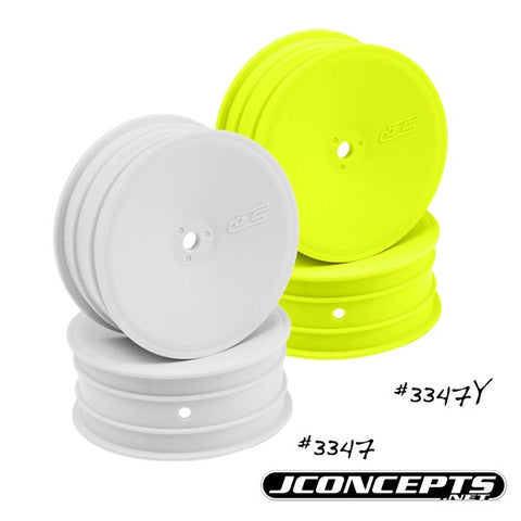 "Jconcepts 3347-W Mono 0.47"" Hex Front Wheel for B4.1/RB5 White (Pack of 4)"