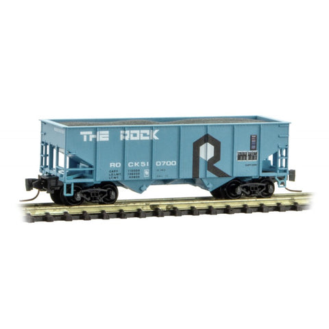 MicroTrains 53400091 Z Rock Island Line 33' Twin Bay Hopper #510700