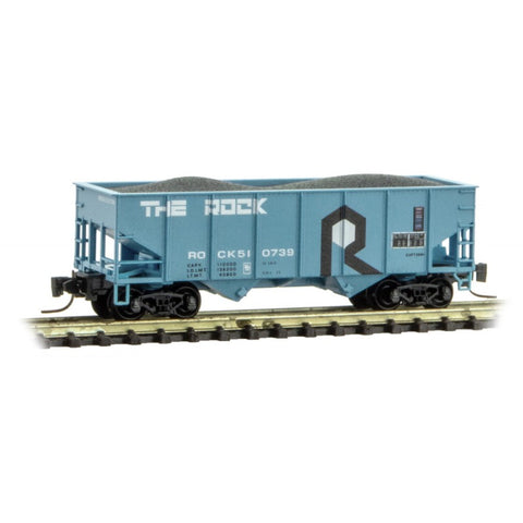 MicroTrains 53400092 Z Rock Island Line 33' Twin Bay Hopper #510739