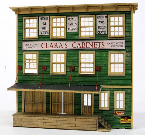 Banta Model Works 2152 HO Clara's Cabinets Front Only