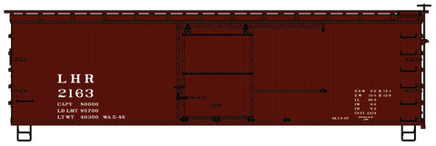 Accurail 1405 HO Lehigh & Hudson River 36' Double Sheath Wood Boxcar