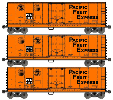 Accurail 8101 HO Pacific Fruit Express/Southern Pacific 40' Steel Reefer (3)