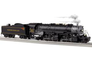 Lionel 6-85184 O Western Maryland BTO 2-6-6-2 Steam with Bluetooth #960