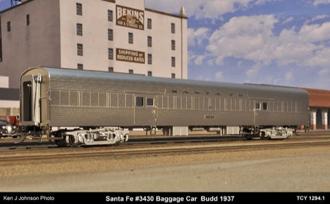 The Coach Yard 1294.1 HO Atchison Toepaka Santa Fe LW Baggage Car