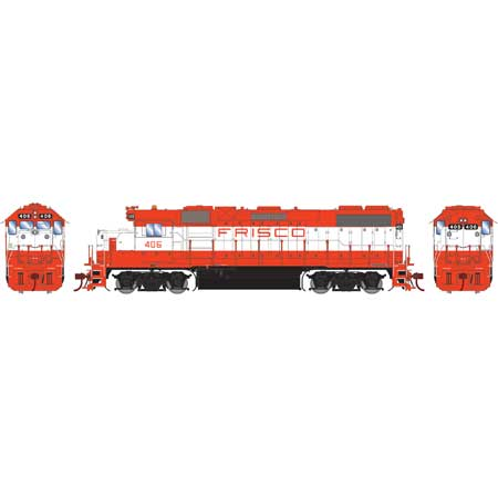 Athearn G65482 HO Frisco GP38-2 with DCC Sound #406