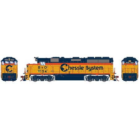 Athearn G65759 HO Chessie/B&O/ATSF GP40-2 with DCC Sound #9154