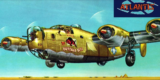 Atlantis Models H218 1:92 Boeing B-24J Bomber Buffalo Bill Plastic Model Kit