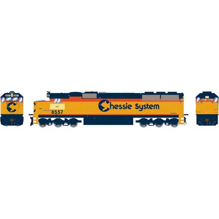 Athearn 86951 HO CSX/Chessie Patched RTR SD50 with DCC & Sound #8557