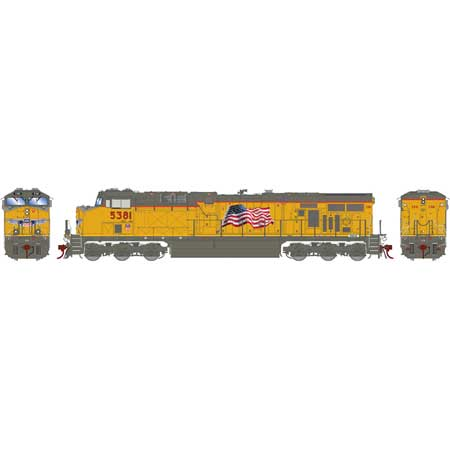 Athearn G69795 HO Union Pacific ES44AC with DCC & Sound w/PTC #5381