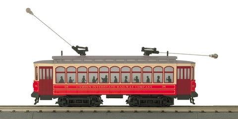 MTH 30-5171-1 O-27 Camden Interstate Brill Trolley with PS3 #38