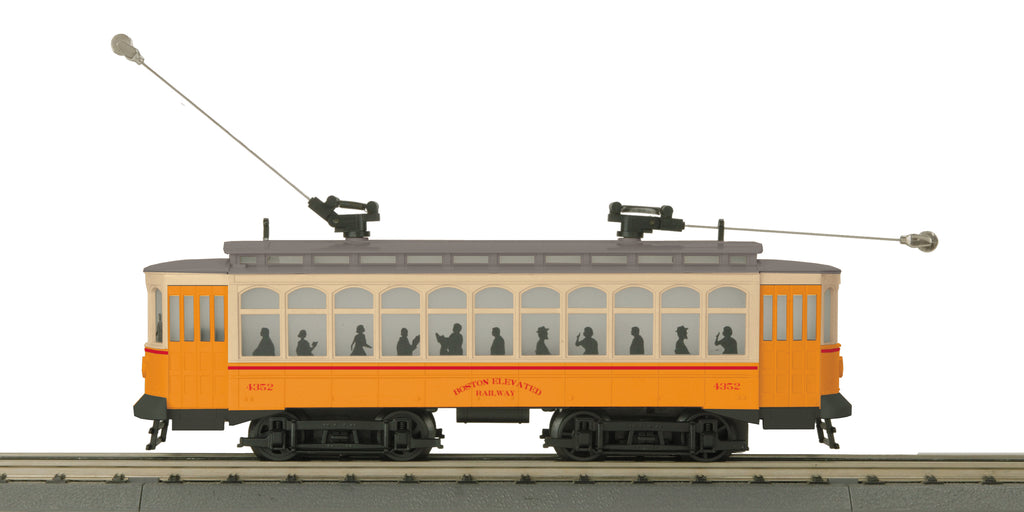 MTH 30-5173-1 O-27 Boston Elevated Railway Brill Trolley with PS3 #4352