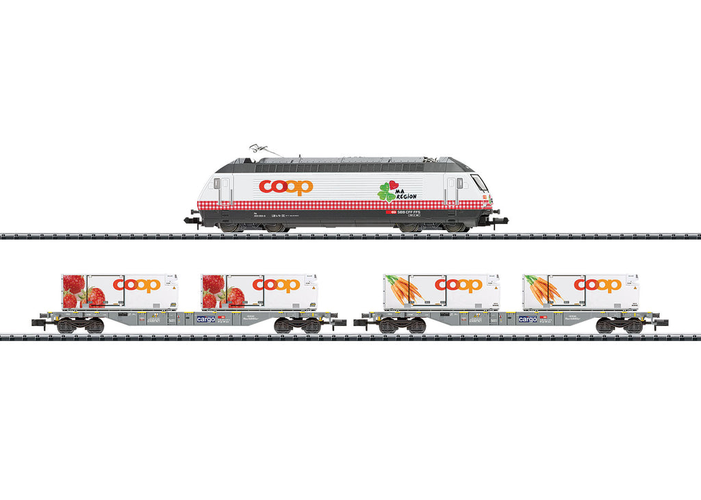 Trix 11638 N Swiss Federal Railways Transport of Foodstuffs Trains (Set of 3)