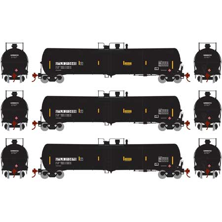Athearn 28270 HO UTLX RTR 30,000 Gallon Black Ethanol Tank Car #3 (Set of 3)