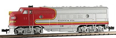 Model Power 89440 N Santa Fe EMD FP7A Phase II Diesel Locomotive Sound/DCC