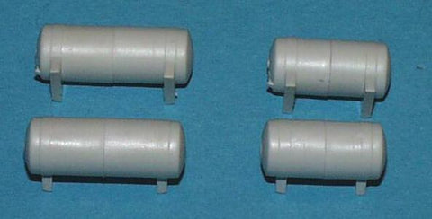 Proto Power 50125 HO Reefer Fuel Tank Set, Long & Short (Pack of 4)