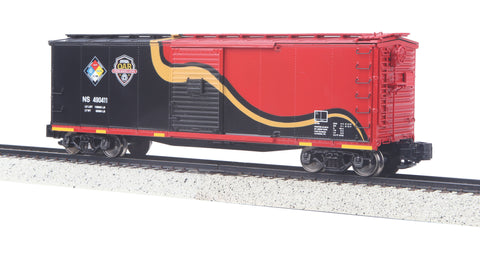 MTH 35-74023 S Norfolk Southern Rebuilt Steel Box Car (Hi-Rail Wheels)