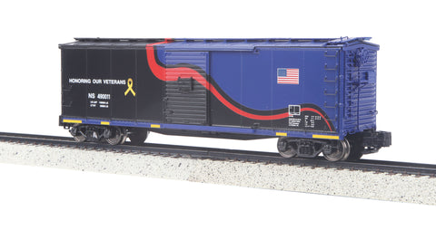 MTH 35-74024 S Norfolk Southern Rebuilt Steel Box Car (Hi-Rail Wheels)