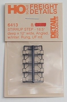 "Detail Associates 6413 HO Stirrup Step 18.5"" x 12."" Bottom Mount (Pack of 8)"