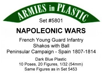 Armies in Plastic 5801 1:32 French Young Guard Infantry (Pack of 20)