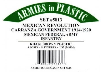 Armies in Plastic 5813 1:32 Carranza Government Federal Army (Pack of 16)