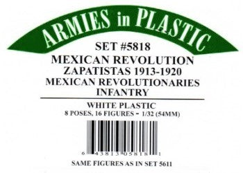 Armies in Plastic 5818 1:32 Zapatistas Revolutionaries Infantry (Pack of 16)