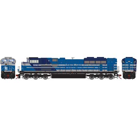 Athearn G89836 HO EMD Lease SD70ACe Diesel Locomotive with DCC and Sound #1206