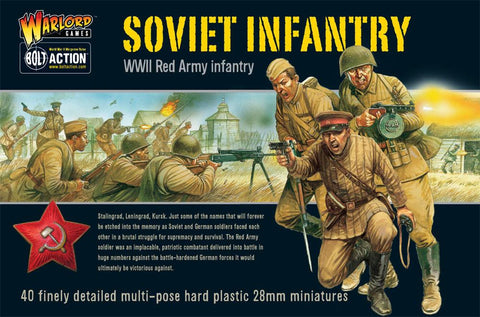 Warlord Games 402014003 1:56 Bolt Action Soviet Infantry (Pack of 30)