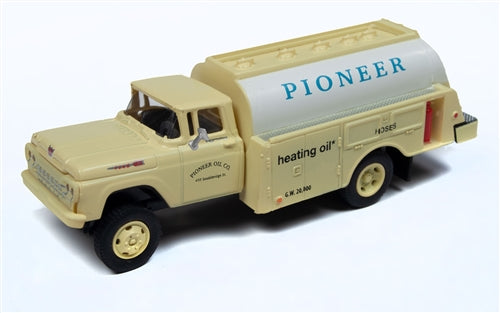 Classic Metal Works 30554 HO 1960 Ford Tank Truck - Pioneer Heating Co