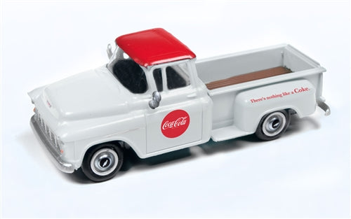 "Classic Metal Works 30559 HO 1955 Chevrolet ""Coca-Cola"" White Pickup"