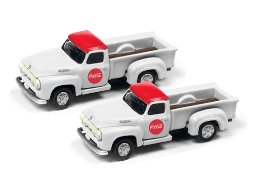 "Classic Metal Works 50394 N 1955 Ford ""Coca-Cola"" Pickup (Pack of 2)"