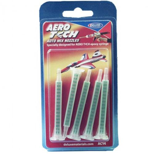 "Deluxe Materials AC14 Aero Tech Auto Mix 3.15"" Nozzles (Pack of 5)"