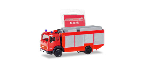 Herpa 013512 HO MiniKit - Iveco Magirus Rescue Red Vehicle Plastic Model Kit