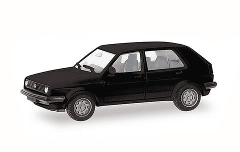 Herpa 012195-007 HO Minikit - Volkswagen Golf II 4-Door in Black