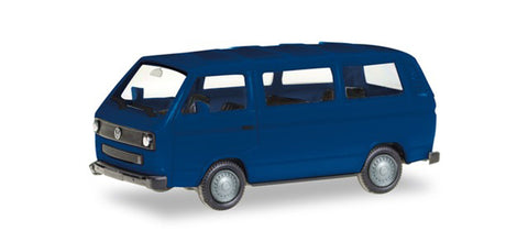 Herpa 013093-002 HO Volkswagen T3 Bus in Ultra Marine Blue